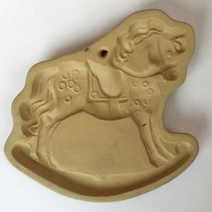 80's Brown Bag Cookie Art Rocking Horse Mold